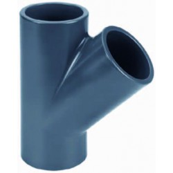 PIECE T 45 PVC pression